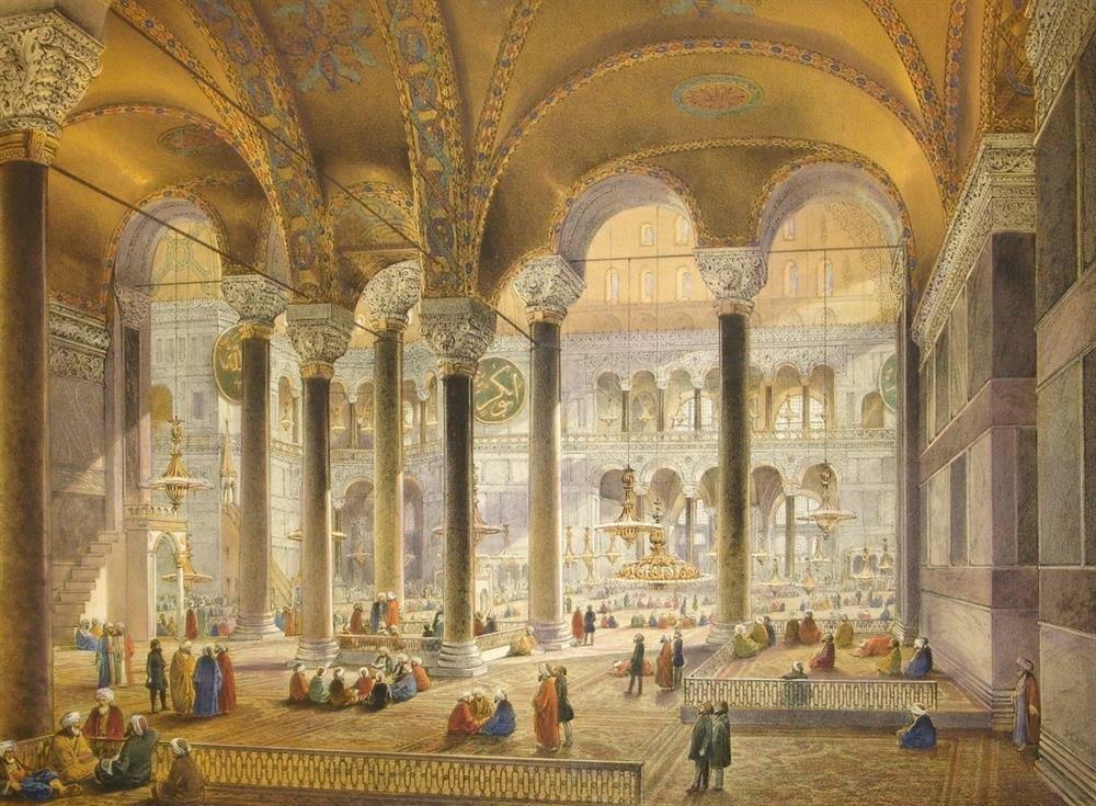 """Fethin hemen ardından Sultan, """"Bugünden itibaren kızgınlığımdan korkmayın hatta ölümden ve esir olmaktan da korkmayın"""" diyerek Ayasofya'ya sığınanların can ve mallarının emniyette olduğu güvencesini vermiştir."""